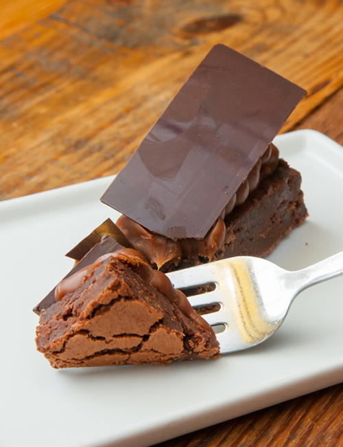 brownie on a fork