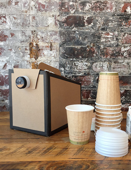 catering coffee and beverage carafe and recycle paper cups