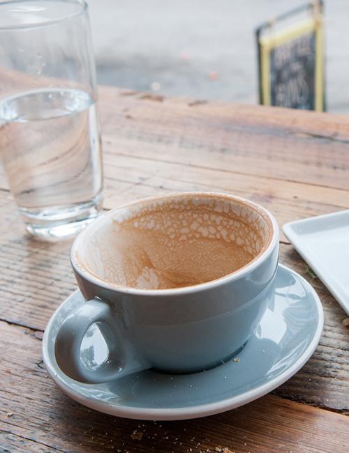 an empty mug of coffee