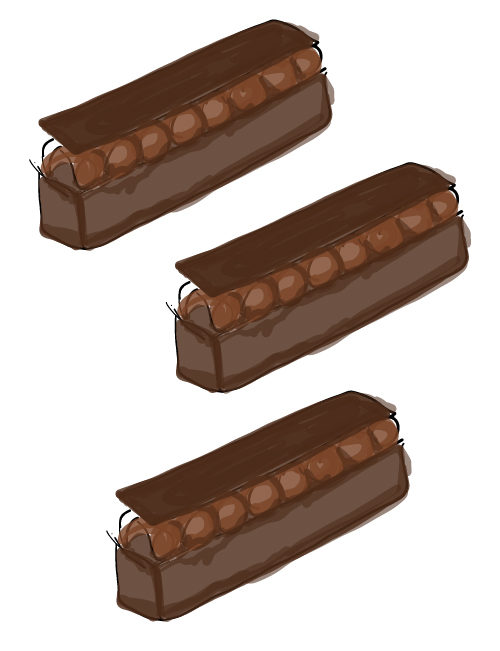 illustration of brownies