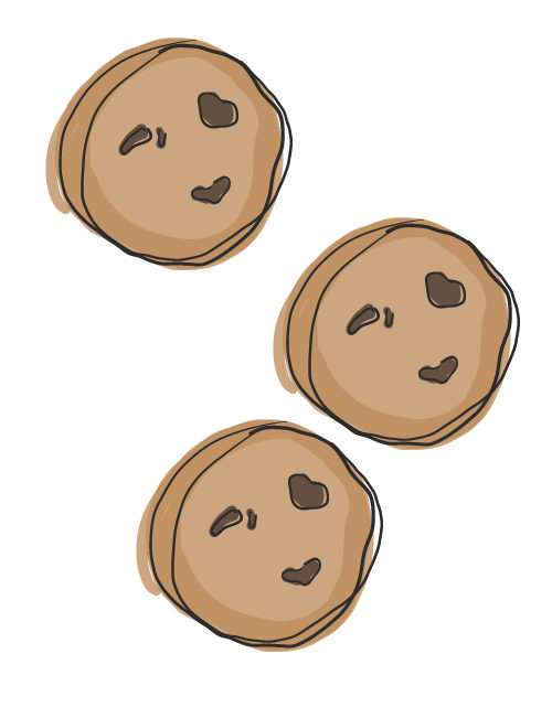 illustration of chocolate chip cookies