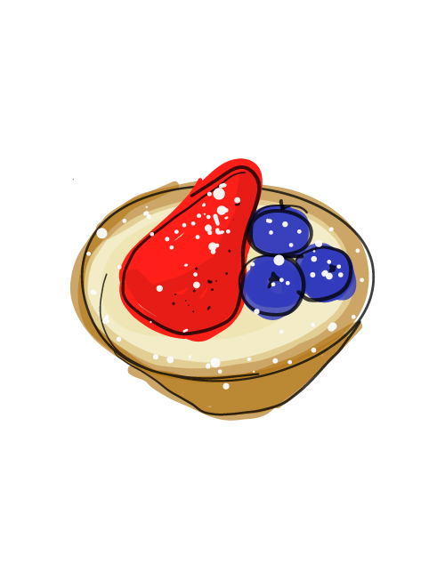 illustration of fruit tarts