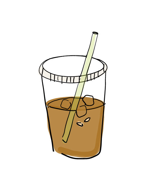 illustration of lebanese iced tea