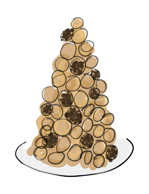 illustration of croquembouche