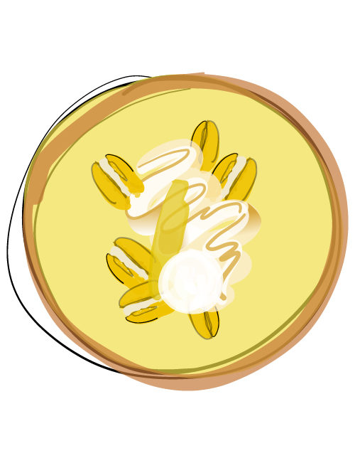illustration of the large lemon tart cake