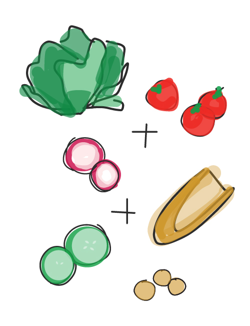 illustration of lucettegrace salad