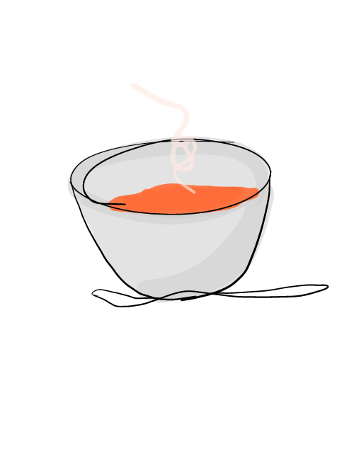 illustration of soup bowl