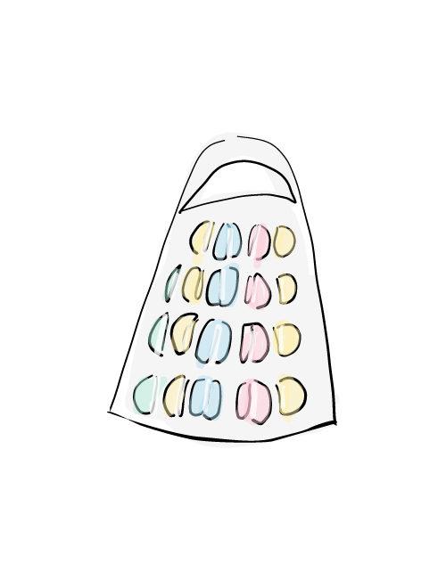 macaron tower illustration