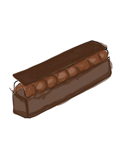 illustration of single brownie