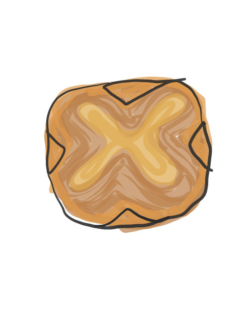 illustration of breakfast pastry