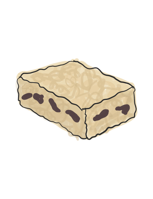 illustration of rice krispy treat