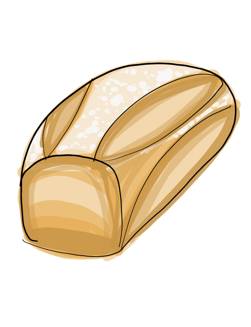 illustration of sandwich bread loaf