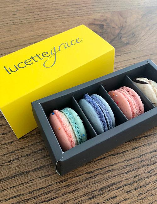 4 piece macaron gift box
