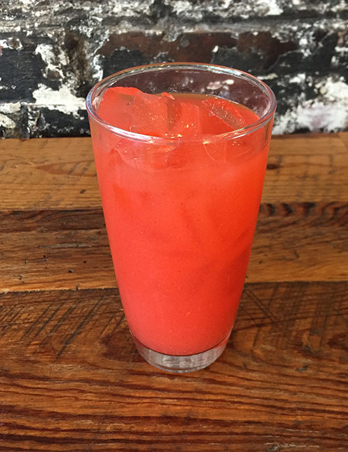 agua fresca fruit juice in a glass