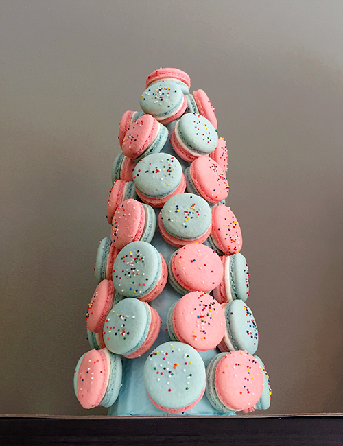 45-piece macaron tower