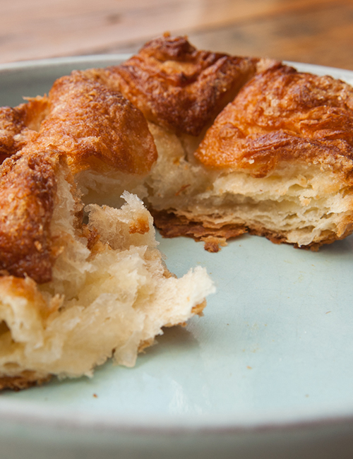 flaky insides of the Kouign Amann pastry
