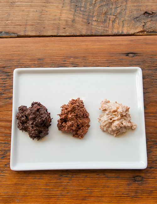 3 flavors of homemade chocolate rocher